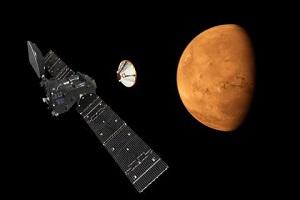 Посадковий модуль космічної місії ExoMars сів на Марс
