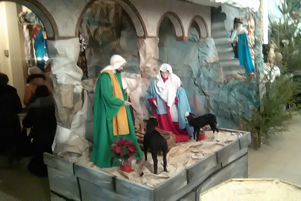 В церкві Святого Апостола Петра завершують спорудження найбільшої різдвяної шопки України (Фото)