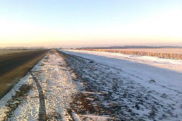 На трасі «Н-18» дорожники Тернопільщини встановили снігозахисні щити (Фото)