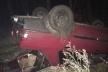 Патрульні склали 2 протоколи на тернопільського водія, який скоїв ДТП та перекинув авто