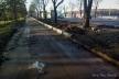 Тривають роботи з ремонту тротуарів на вулиці Руській