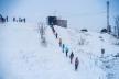 Вперше у Тернополі гірколижну трасу повністтю засипали штучним снігом