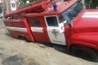 У Тернополі під асфальт провалився автомобіль рятувальників (Фото)