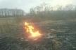 Пожежа сухої трави ледь не призвела до мастабної трагедії