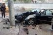 У Тернополі «шумахер» на «Мерседесі» вщент розтрощив іномарку (Фото)