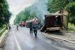 Лобове зіткнення: під Тернополем в результаті ДТП горіли фури (Фото)