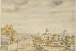 Містечко Шумськ на малюнку ХІХ століття