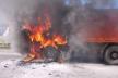 Тернопільщина: на автошляху М-19 загорілася вантажівка