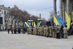 У День добровольців під час урочистостей Тернопільські атовці повернулися спинами до побратимів