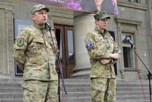 «Свободівці», що брали участь в АТО, привітали патріотичну молодь Тернополя (фото)
