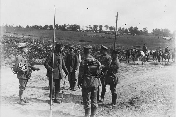 Німецькі телеграфні війська біля Тернополя в 1917 році (Фото)