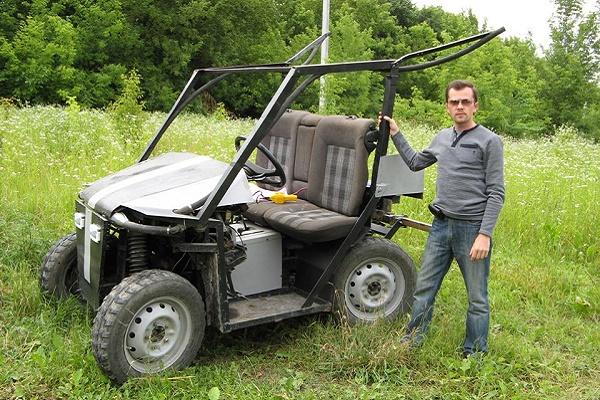 Як тернополянин Петро Головатий власноруч зібрав бюджетне авто «Мінітрактор-всюдихід»