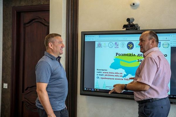 Технічний розвиток ТНЕУ відмітив його випускник – народний депутат