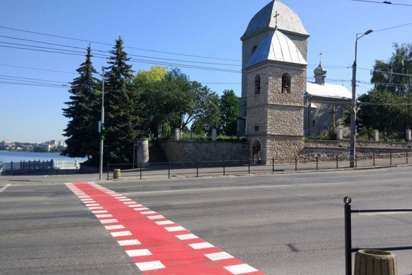 У Тернополі облаштували кілька велопереїздів
