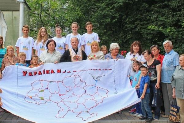 На Тернопільщині вишивають унікальну карту єднання українців