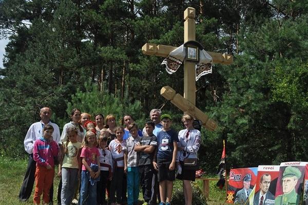 На Кременеччині встановили хрест на честь керівника проводу УПА