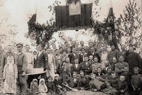 Мешканці села Верещаки на ретрофото