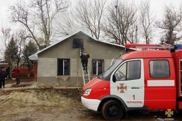 У Тернополі горіла будівля через несправну піч