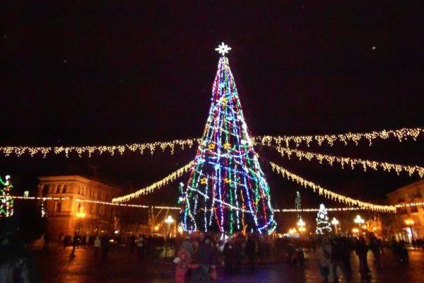 Відкриття Зимового містечка і запалення ялинки за участю Президента Порошенка  у Тернополі (Наживо)
