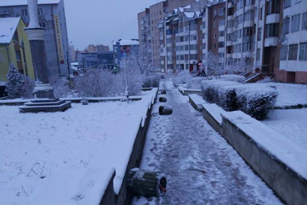 Урни для сміття у Тернополі «прилягли відпочити»? (Фотофакт)