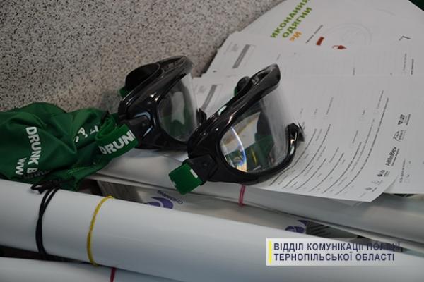 Як керувати автомобілем напідпитку – відчули учні автошкіл на Тернопільщині