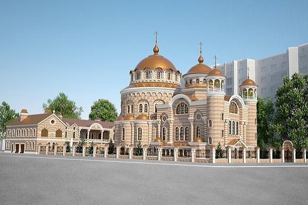 Тернополяни вже можуть побачити, як виглядатиме фасад майбутньої святині на Тарнавського (Фото)