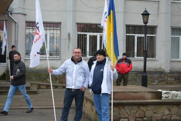Під час сесії Збаразької міської ради відбулася мирна акція протесту (Фото)