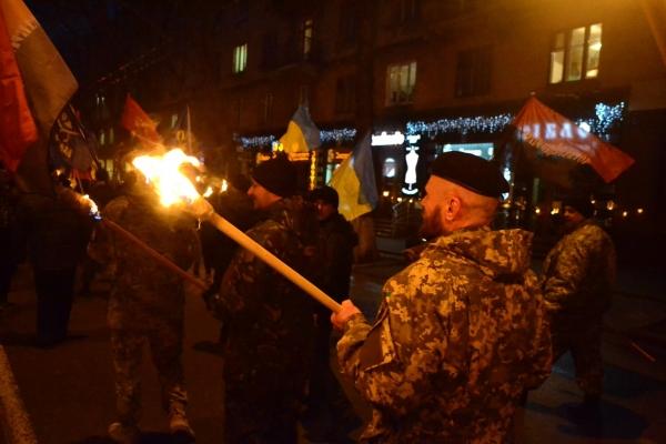 У Тернополі відбувся смолоскипний марш, приурочений 109-ій річниці від Дня народження Степана Бандери (Фото)
