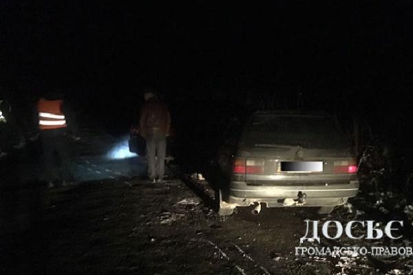 На Монастирищині п'яний водій врізався в іншу іномарку