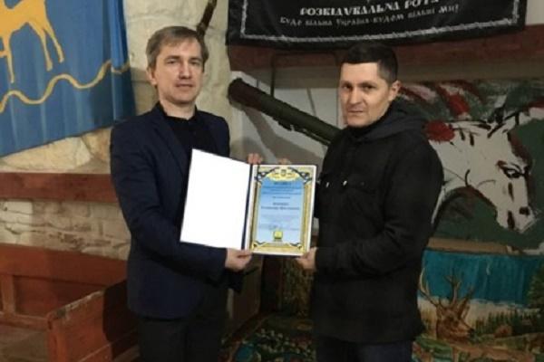 У Бережанах нагороджено волонтера та учасника АТО