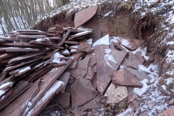 На Тернопільщині незаконно видобували пісковик