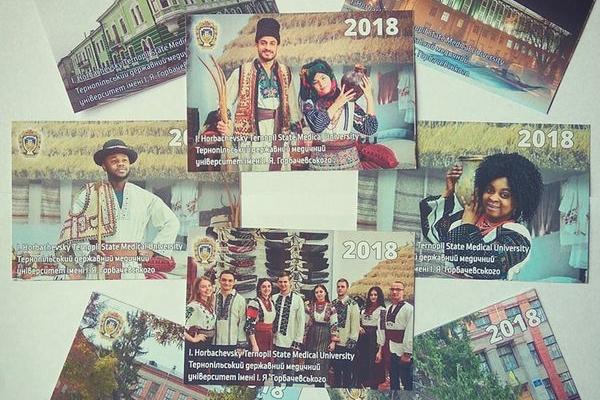 Календар зі студентами в етностроях видали у Тернополі