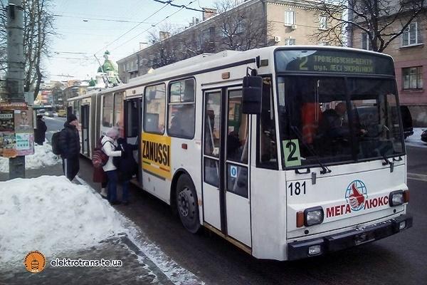 Тернопіль: у новорічну ніч курсуватиме громадський транспорт