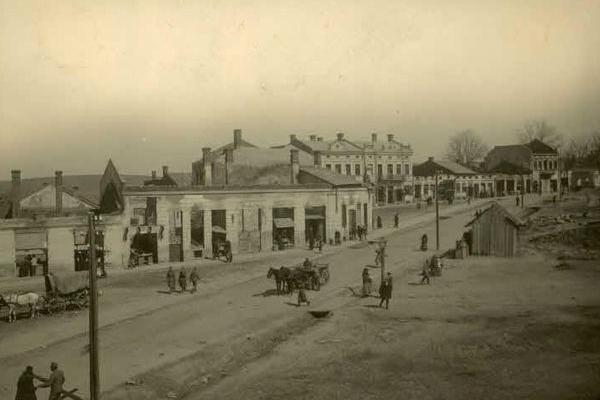 Зруйнована Монастириська на фото початку ХХ століття