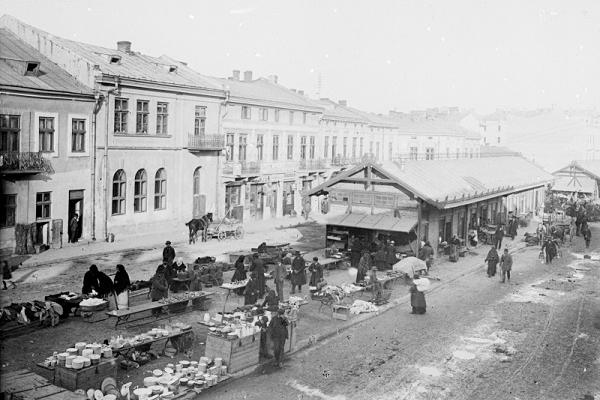Тернопільський вуличний базар початку ХХ століття
