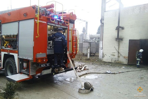 В Тернополі на одному з підприємств сталась пожежа