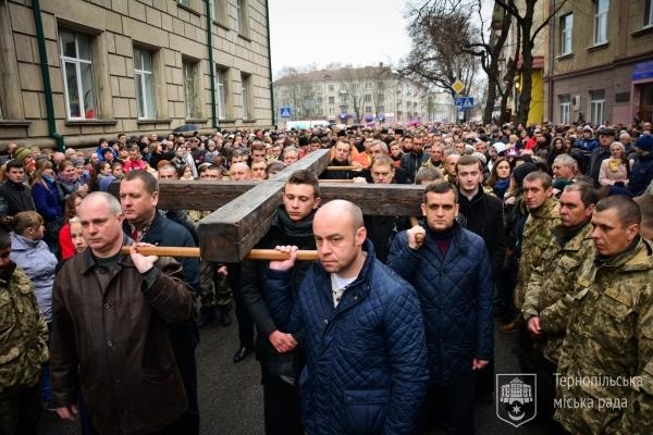 25 березня в Тернополі перекриють центральну частину міста через хрест