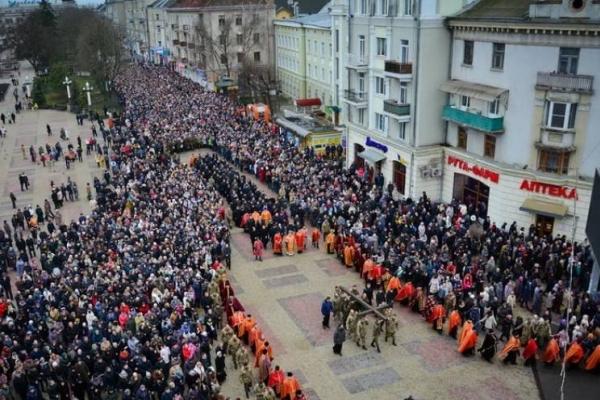 25 березня у Тернополі відбудеться Хресна хода (Маршрут)
