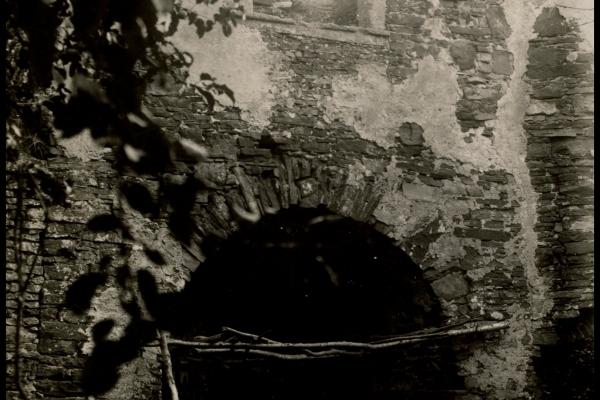 Руїни замку в Підзамочку на старих світлинах