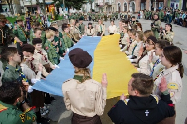 14 квітня в Підгайцях на Тернопільщині урочисто відзначили «День першої пластової присяги»