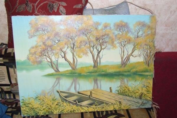 Місцевий художник продає картину і гроші планує віддати на лікування капітана яхти «Тернопіль»