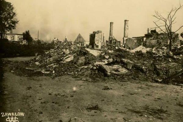 Зруйнований Завалів на Тернопільщині очима австрійців
