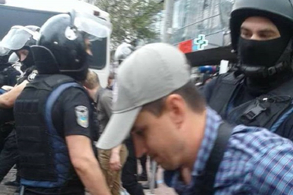 Поліція затримала Василя Лабайчука у Києві під час «Маршу рівності» (Фото)