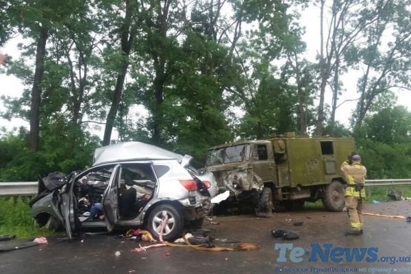 Під Тернополем дві жінки загинули в страшній аварії за участю військового автомобіля (Фото)