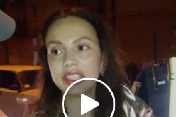 Понад 1000000 переглядів набрало відео, як п'яна екс-дружина тернопільського депутата посилала поліцейського (Відео 18+)