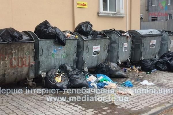 Центр Тернополя перетворився на сміттєзвалище (Фото)