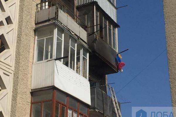 У Тернополі горіла квартира у багатоквартирному будинку (Відео)