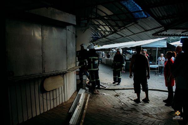 У Тернополі горів торгівельний кіоск (Фото)