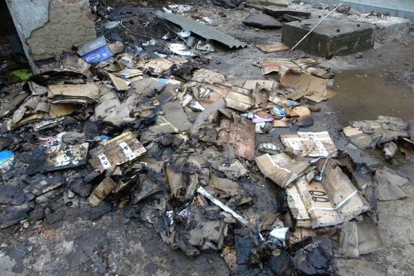 Загорання сміття в Чорткові ледь не призвело до великої пожежі