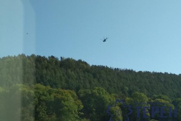 Над Кременцем пролетіло 13 військових вертольотів (Відео)